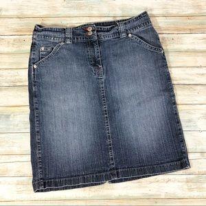 New York & Company Denim Jean Skirt Sz 10
